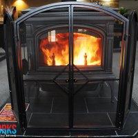 Heavy Duty 3 Fold Fire Screen with Gate