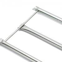 Stainless Steel Burner Tube Set: Genesis® 1-5500 (models prior 2002)  Dimensions: Front/Rear Burner Tube 29 3/16