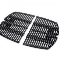 Porcelain-Enameled Cast-Iron Cooking Grates: Weber Q® 200/2000  Dimensions: 21.5