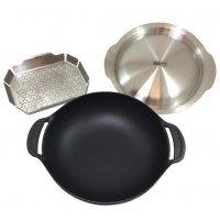Weber GBS Cast Iron Wok and Steamer Set