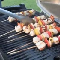 Grilling Chicken and Veggie Kabobs