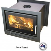 Double sided wood fire by Eureka, Jewel. (up to 400m2)