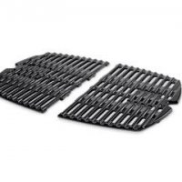 Porcelain-Enameled Cast-Iron Cooking Grates: Weber Q® 100/1000  Dimensions: 17